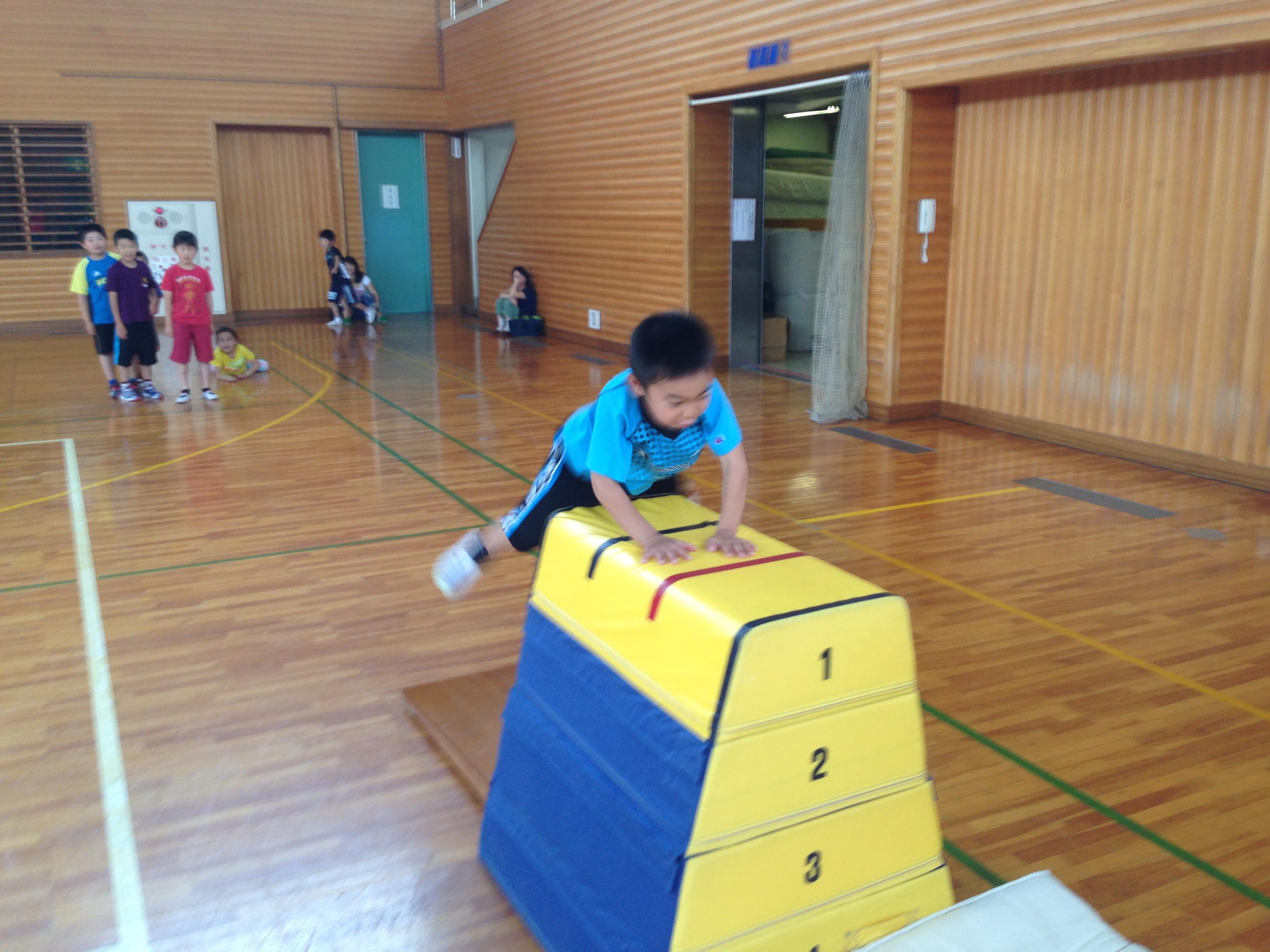 跳び箱練習